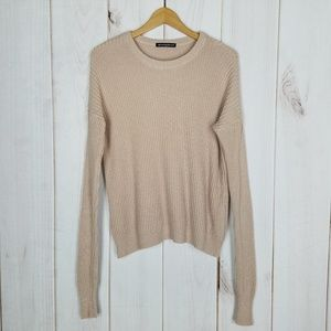Brandy Melville | Mauve Pink Beige Slouchy Sweater